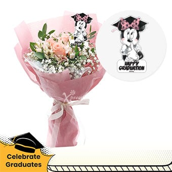 Boundless Dreams (3 pink roses Disney bouquet)
