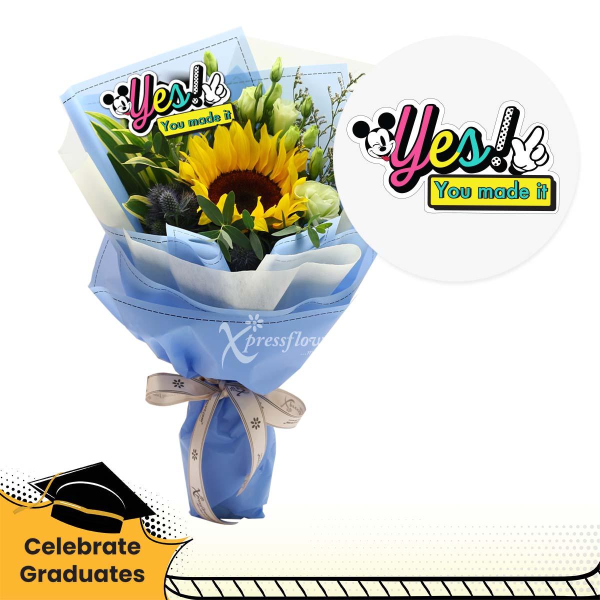 Winning in Life (1 sunflower Disney bouquet)