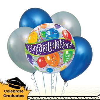 Heartiest Congratulations (6 helium balloons)