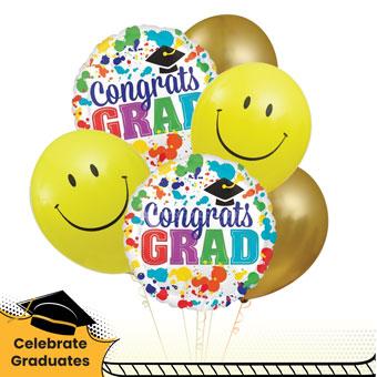 Congraduation! (6 helium balloons)