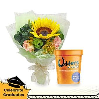 Uplifting Surprise (1 sunflower with Udders ice cream)