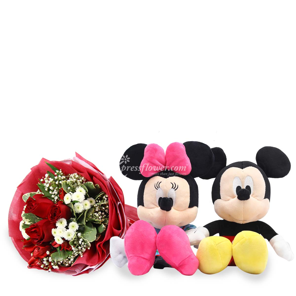 ST1703 by my side red roses mickey minnie
