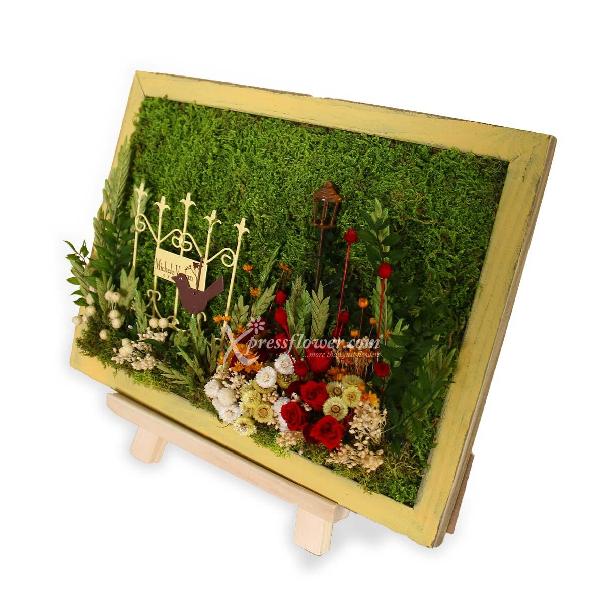 PS2101 Morning Garden Moss Art B