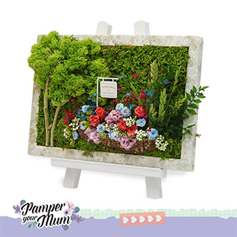 Online dried moss art delivery Singapore