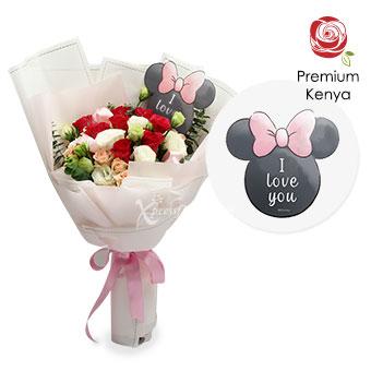 Sweet Minnie (9 stalks Premium Kenya Red Roses)