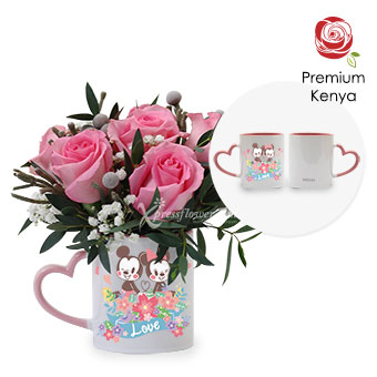 Charmed By You (6 stalks Premium Kenya Pink Roses)