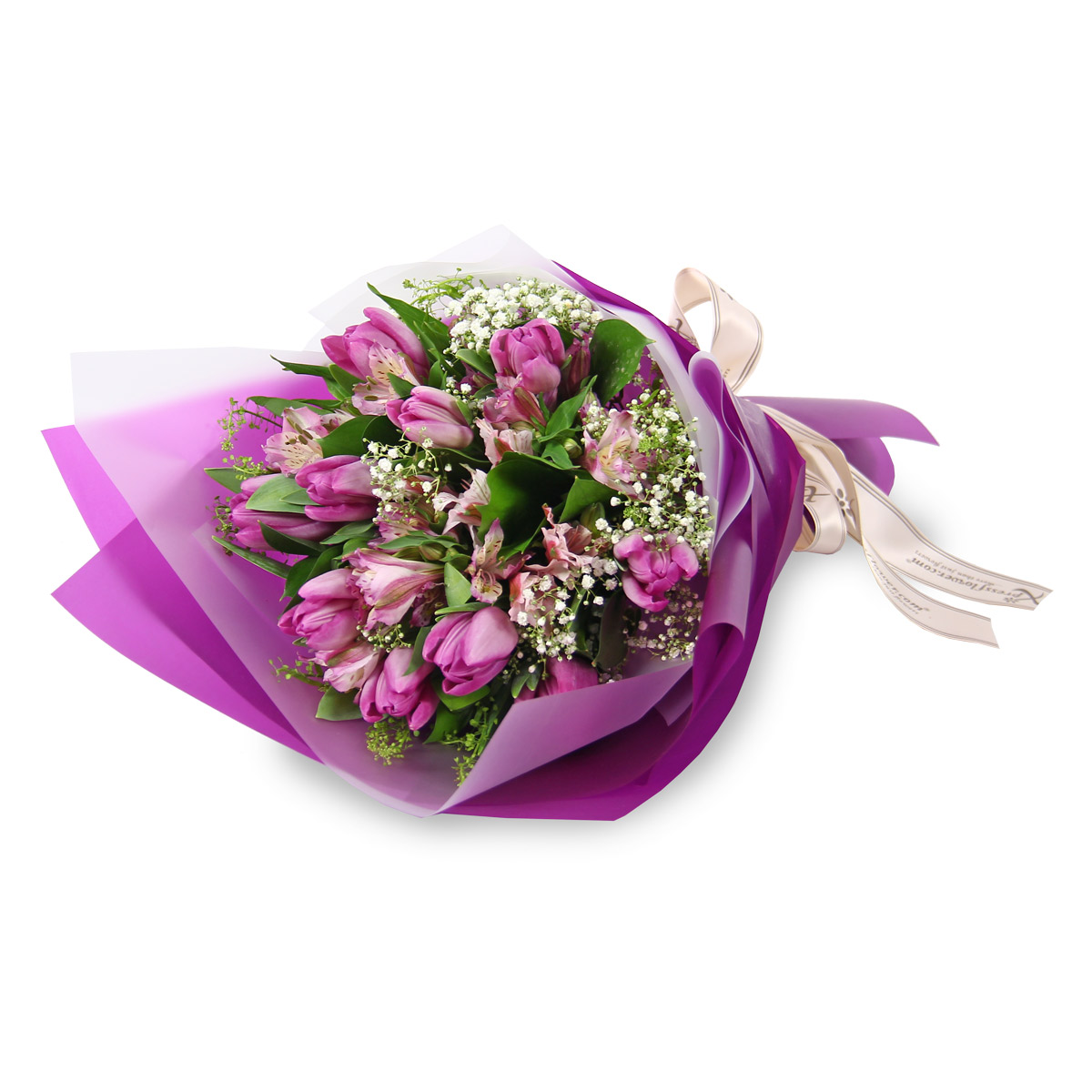 VD1721 purple tulips bouquet