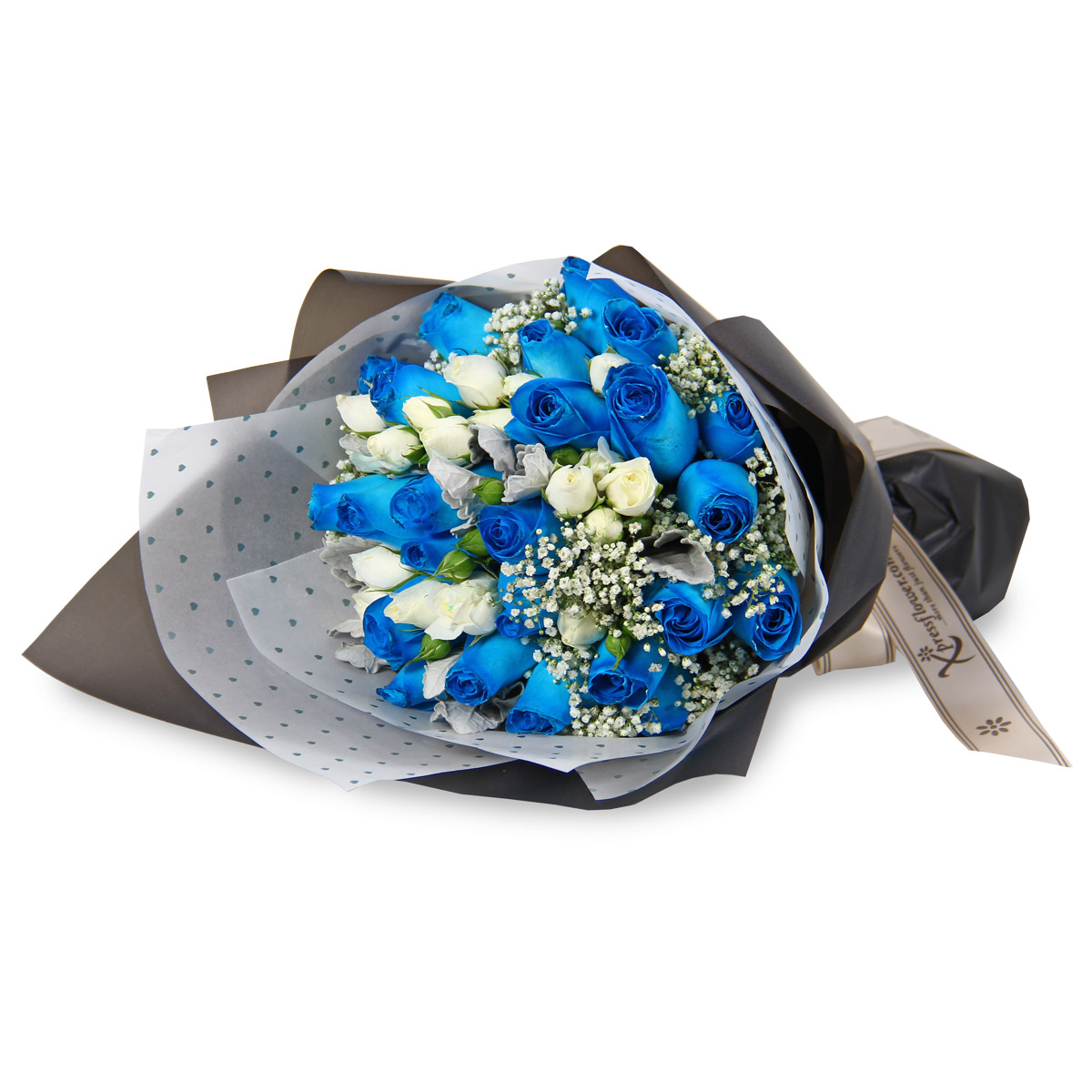 VD1722 blue roses bouquet