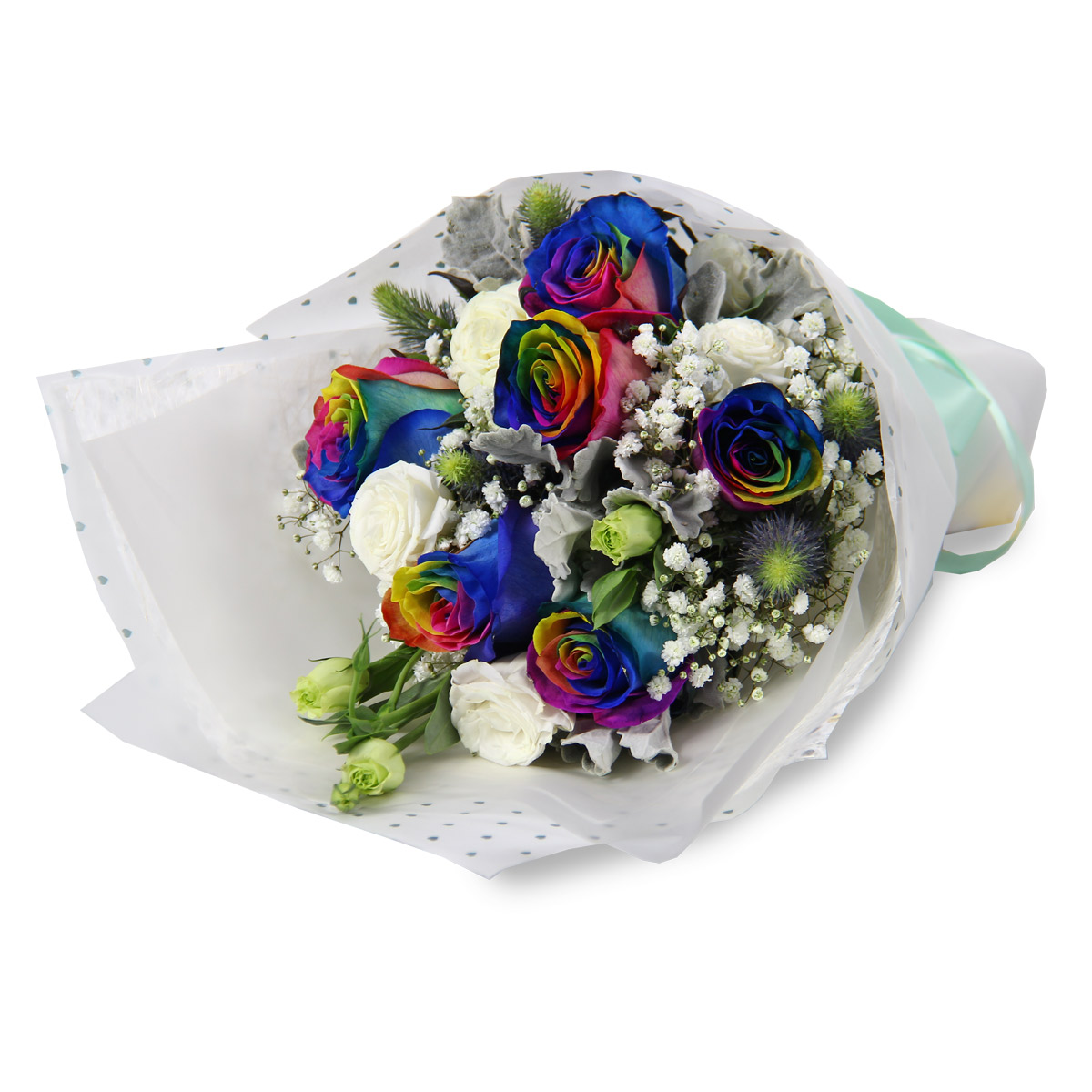 VD1723 rainbow rose bouquet
