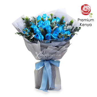 Winter Princess (24 stalks Premium Kenya Blue Roses)
