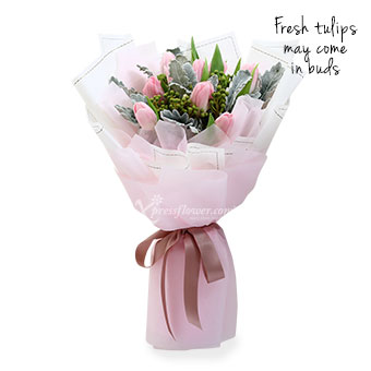 Pink Confetti (10 stalks Pink Tulips)