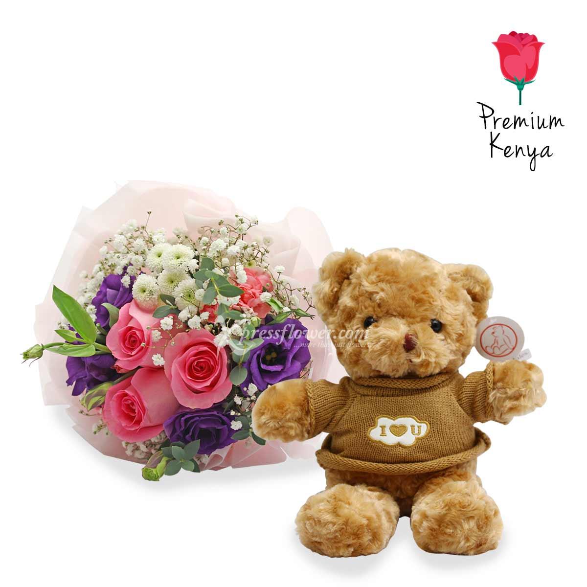 VDFG2072 Hug Me Baby Flower and Gift