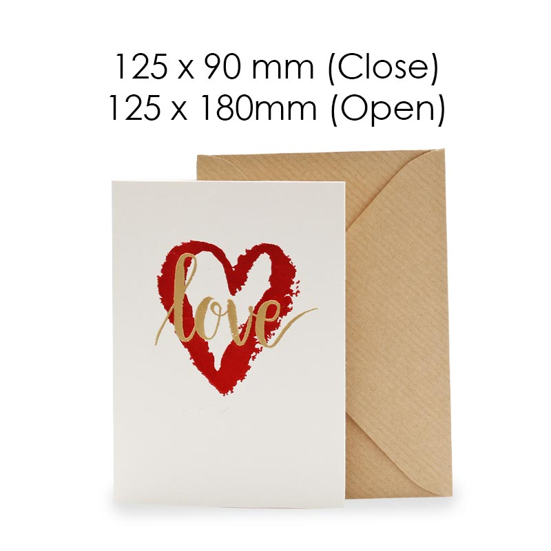 Heart you (Blank Card)