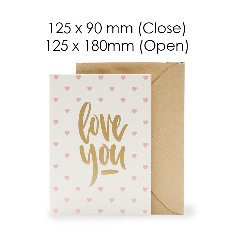 Love You (Blank Card)
